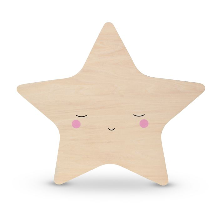 Wooden Star Tap Wall Night Light