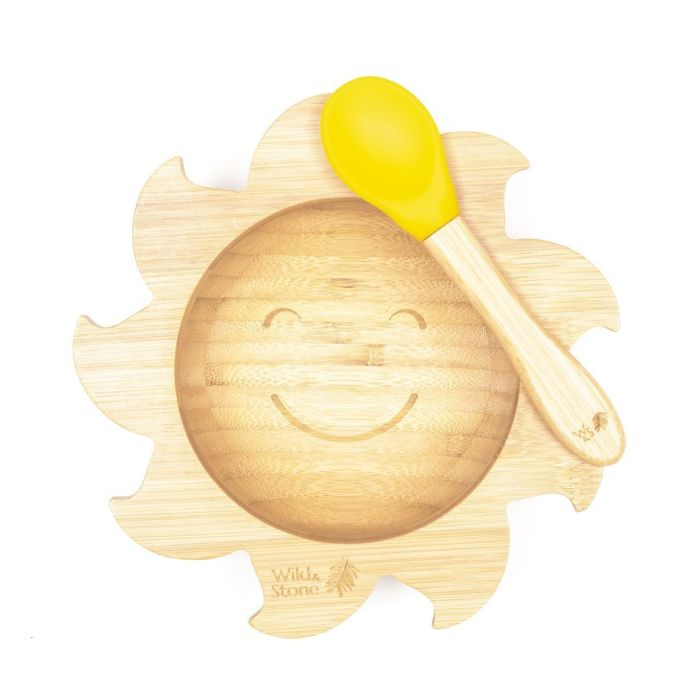 You Are My Sunshine Baby Bamboo Weaning Bowl and Spoon Set