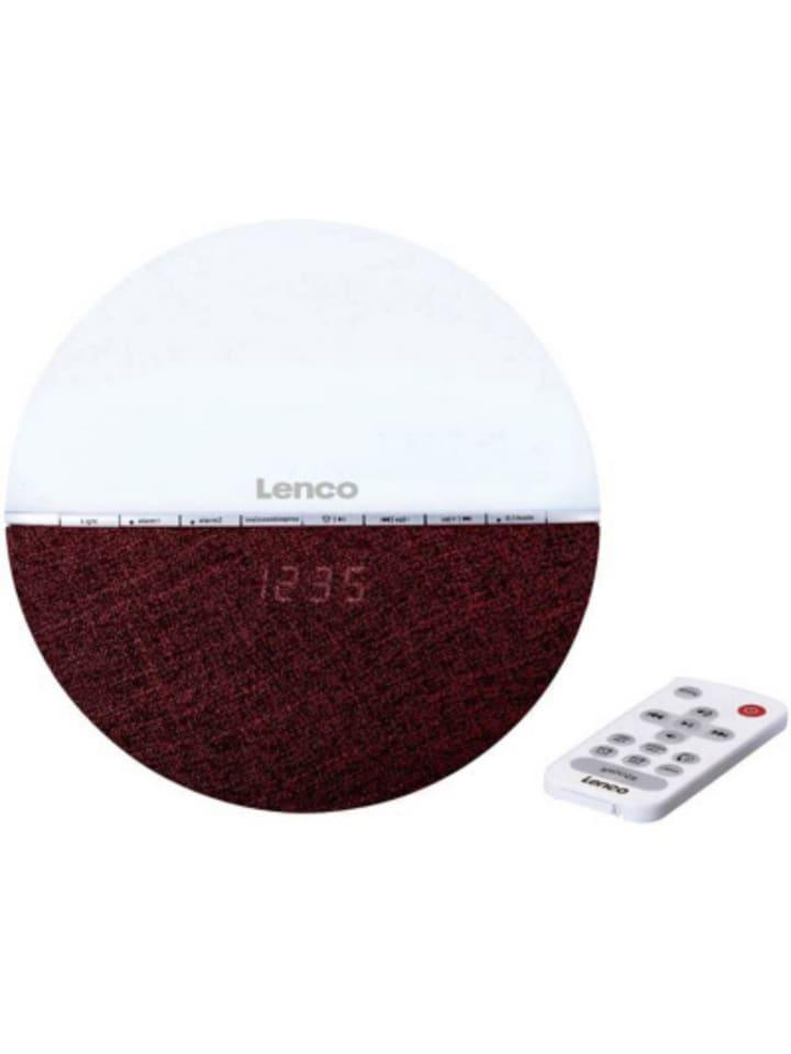 Lenco Radiowecker/Wake-Up Light CRW-4, burgundy