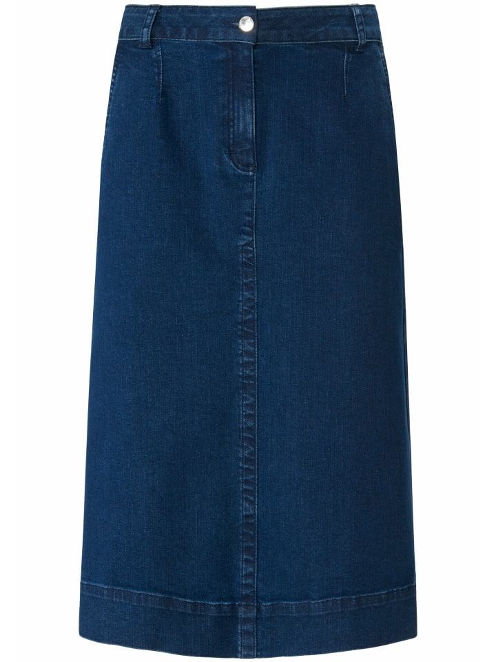 PETER HAHN Jeansrock Jeans-Rock in blue denim