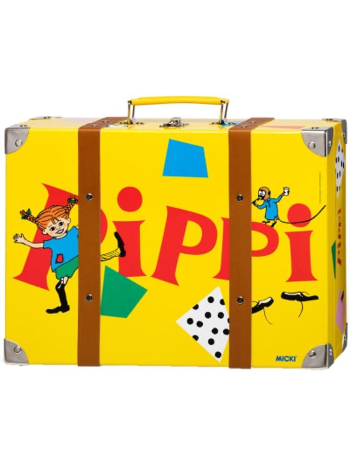 Micki XL-Kinderkoffer Pippi Langstrumpf gelb