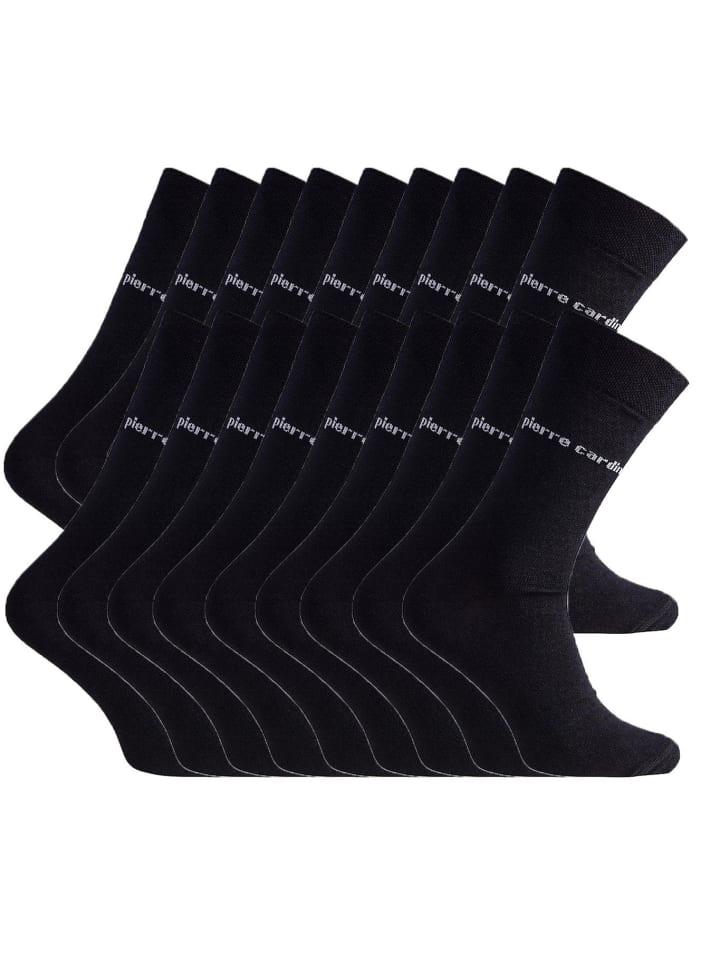 Pierre Cardin Socken 18 Paar in Schwarz