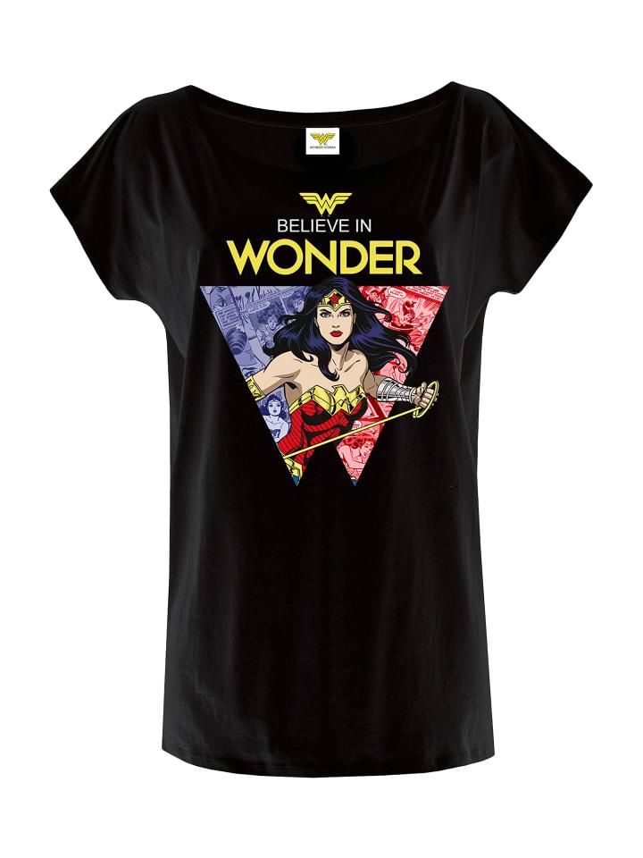 DC T-Shirt Wonderwoman Believe in Wonder in schwarz
