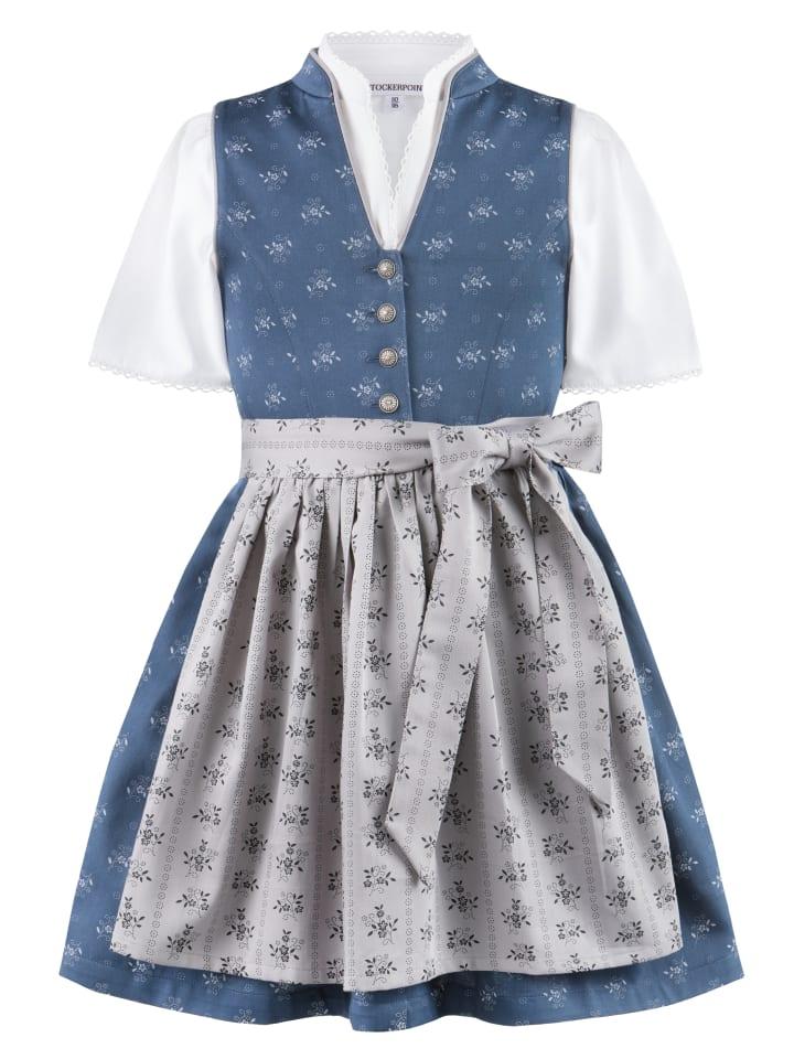 "Stockerpoint Kinderdirndl ""Amalie jr."" in dunkelblau-grau"