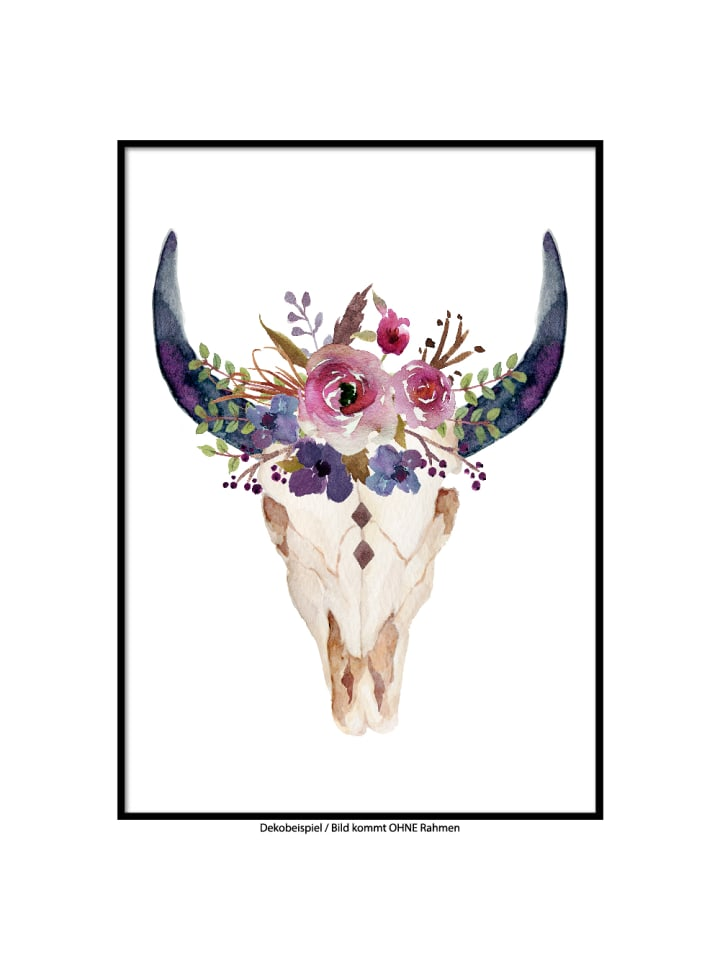 "SMART ART Kunstdrucke Kunstdruck / Poster ""Skull.1"" / A4 oder A3"