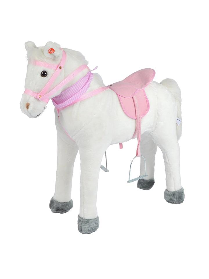 """Pink Papaya Stehpferd 75 cm """" Molly """" in Weiß/Weiß"""