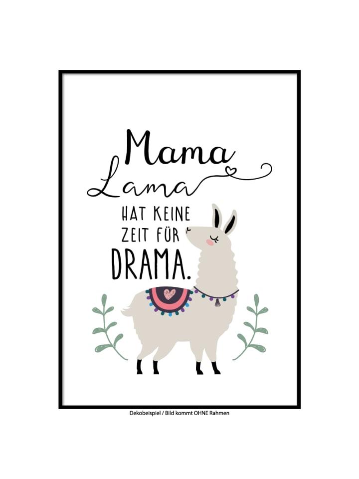 "SMART ART Kunstdrucke Kunstdruck / Poster ""Mama Lama"" / A4 oder A3"