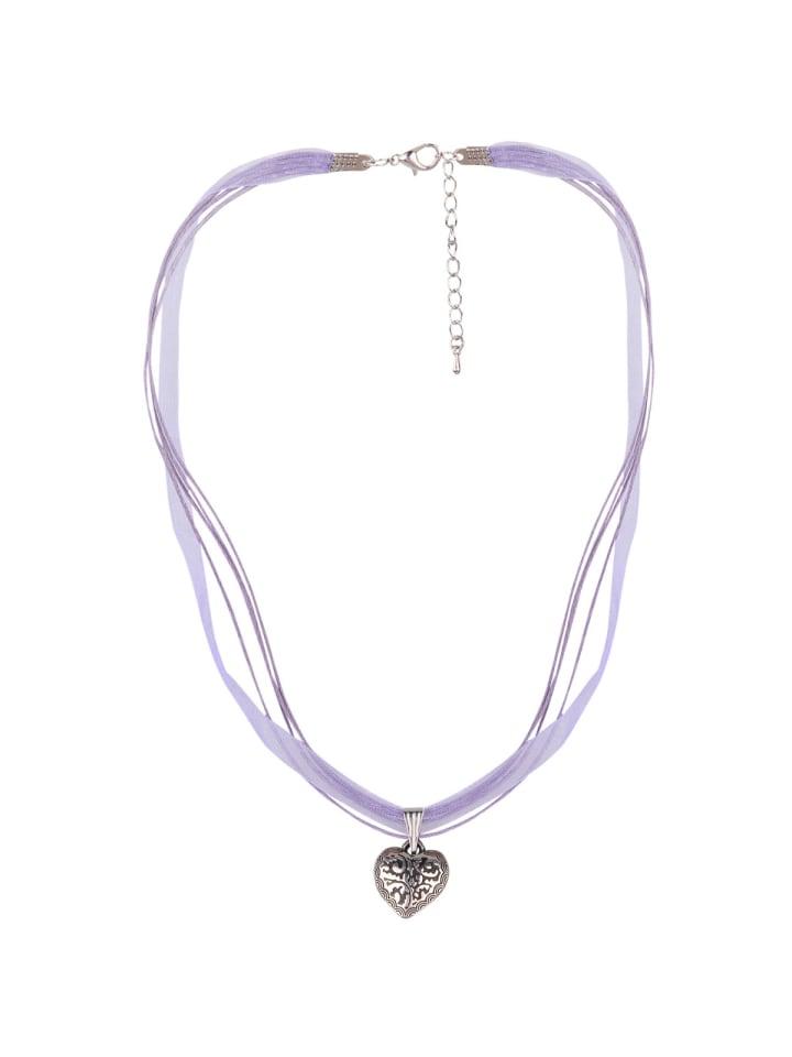 Schlick Accessoires 4 Bänder Halskette in Lila