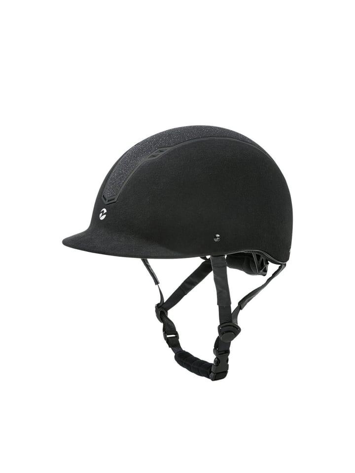BUSSE Reithelm Cobara Wildlederoptik XXS-S (51-55), schwarz