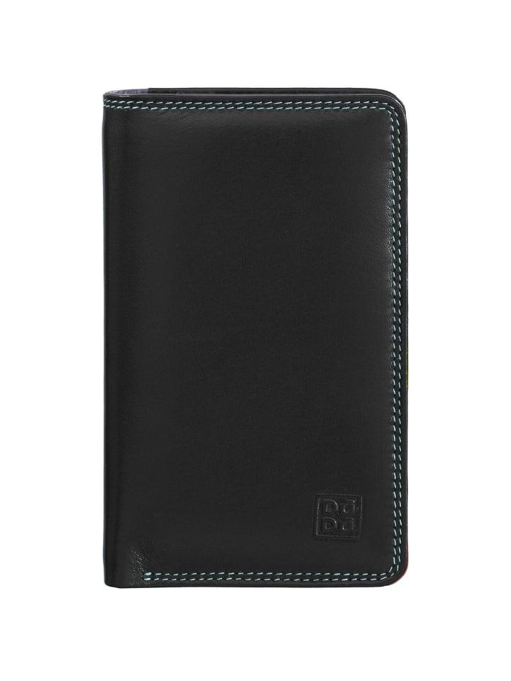 DuDu Geldbörse RFID Leder 8,5 cm in schwarz