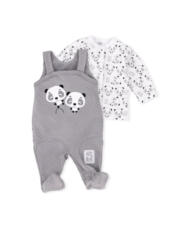 Baby Sweets 2tlg Set Strampler + Shirt Lieblingsstücke Panda in bunt