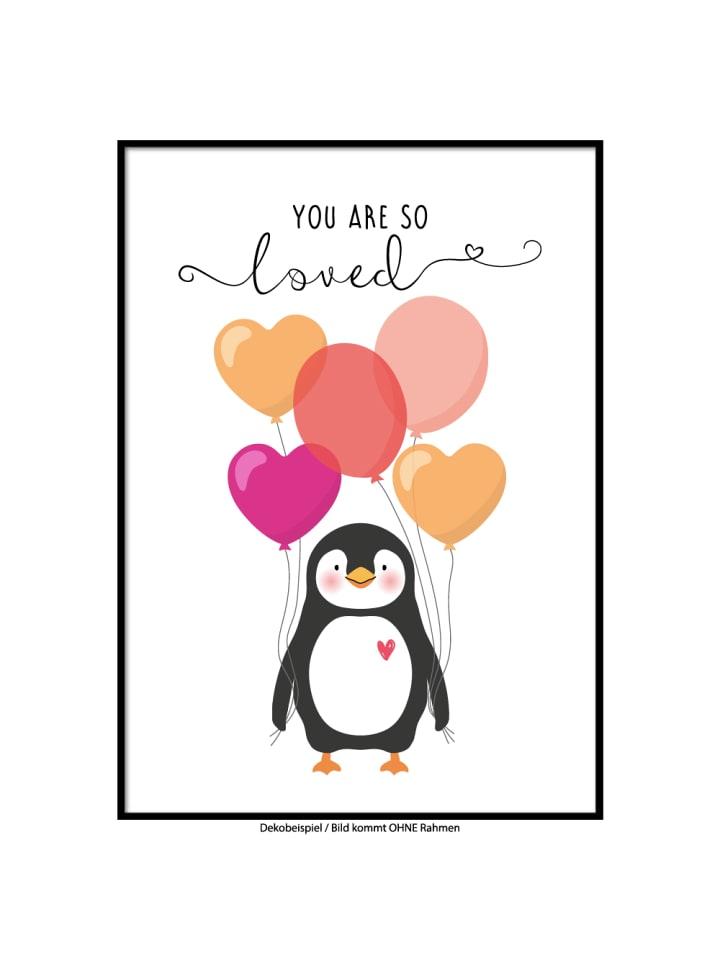 "SMART ART Kunstdrucke Kunstdruck / Poster ""Pinguin Paul"" / A4 oder A3"