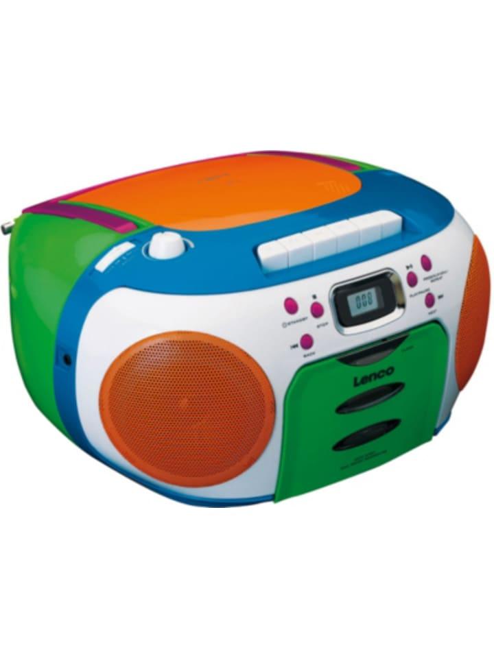 Lenco SCD-971 Kids - Boombox Kinder CD-Player mit Radio, Kassettenplayer und...