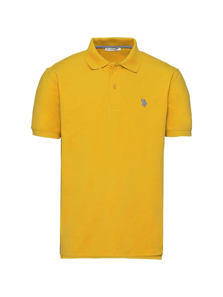 U.S. Polo Assn. Basic Poloshirt in GELB