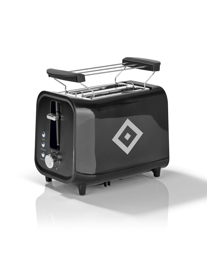 """Hamburger SV Toaster """"HSV"""" in Schwarz / Silber"""