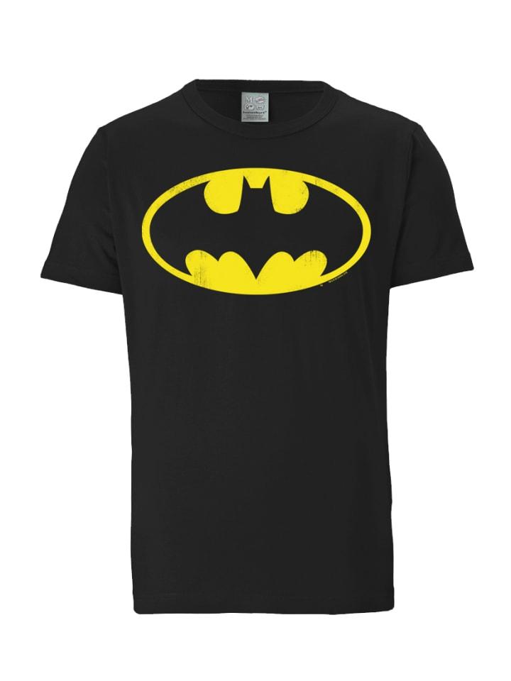 Logoshirt T-Shirt Batman - Logo in schwarz