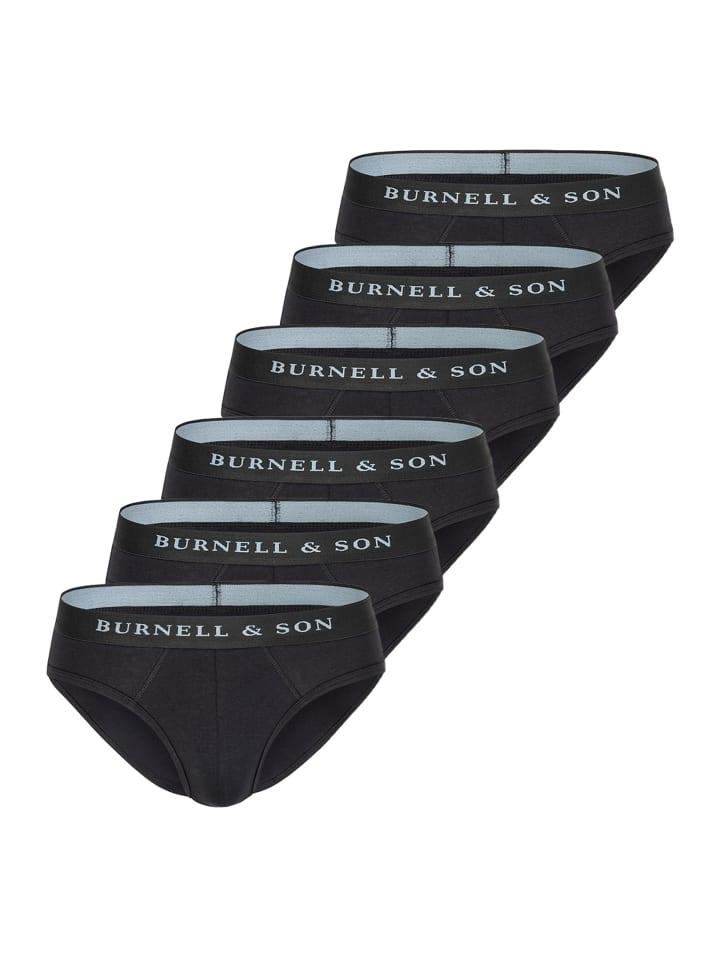 Burnell & Son Slip / Unterhose 6er Pack - Basic in Schwarz
