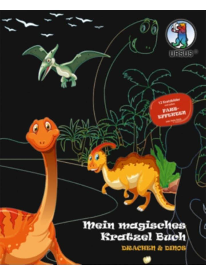 """URSUS Mein Magisches Kratzel Buch """"Drachen & Dinos"""""""