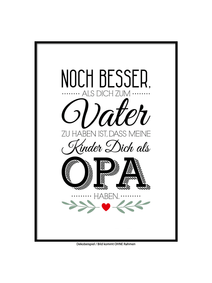 "SMART ART Kunstdrucke Kunstdruck / Poster ""Bester Opa"" / A4 oder A3"