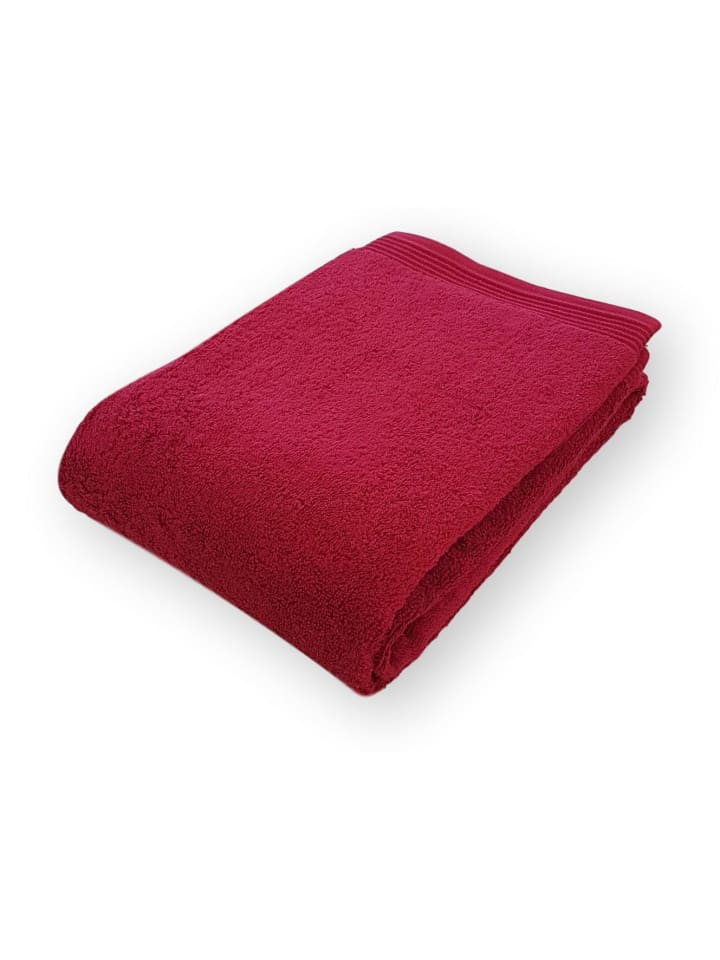 """Freundin HOME COLLECTION Walkfrottier Badetuch """"HOME"""" in Bordeaux - (L) 150 x (B) 100 cm"""