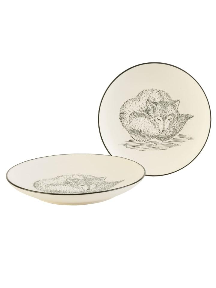 Impressionen Living Dessertteller-Set, 2-tlg., Fuchs in weiß