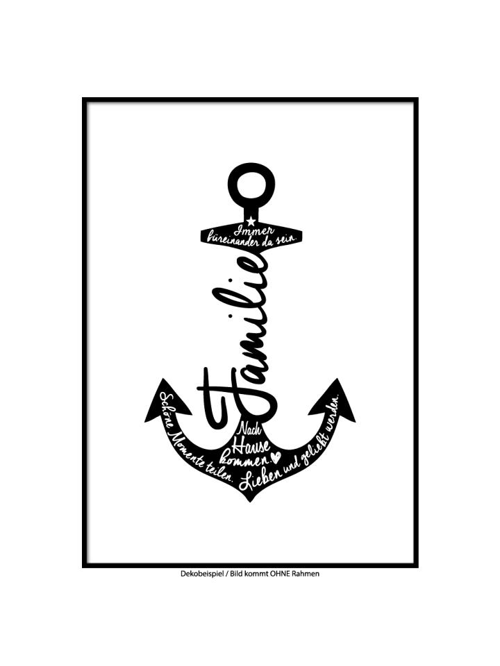"""SMART ART Kunstdrucke Kunstdruck / Poster """"Anker Familie"""" / A4 oder A3"""