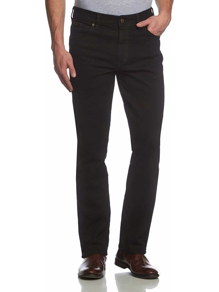 Wrangler Straight Leg Jeans in schwarz