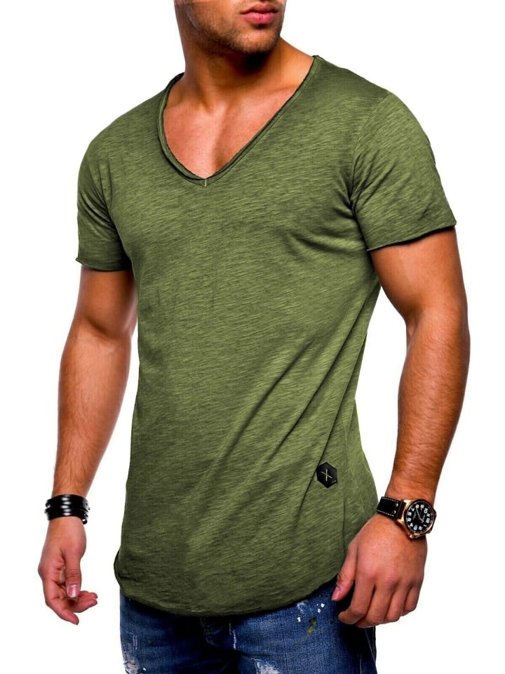 Behype T-Shirt NUKE in khaki (wash)