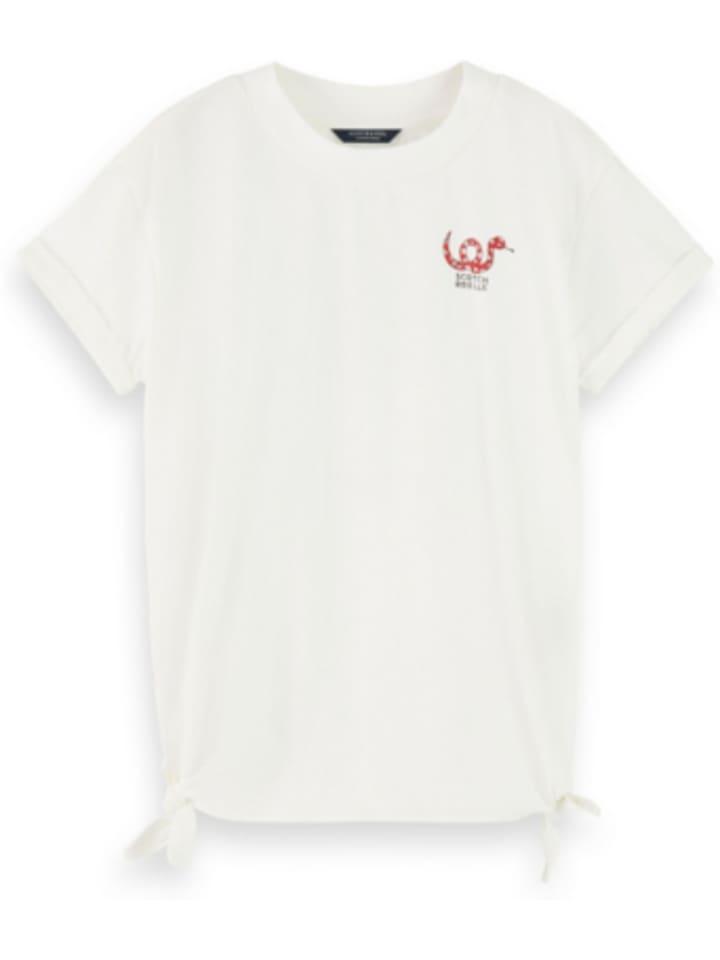SCOTCH R'BELLE T-Shirt mit Seitenknoten