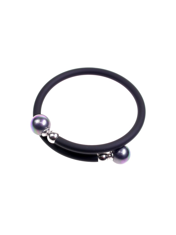 Perlas Orquidea  Perlenarmband Unisex Bracelet in schwarz