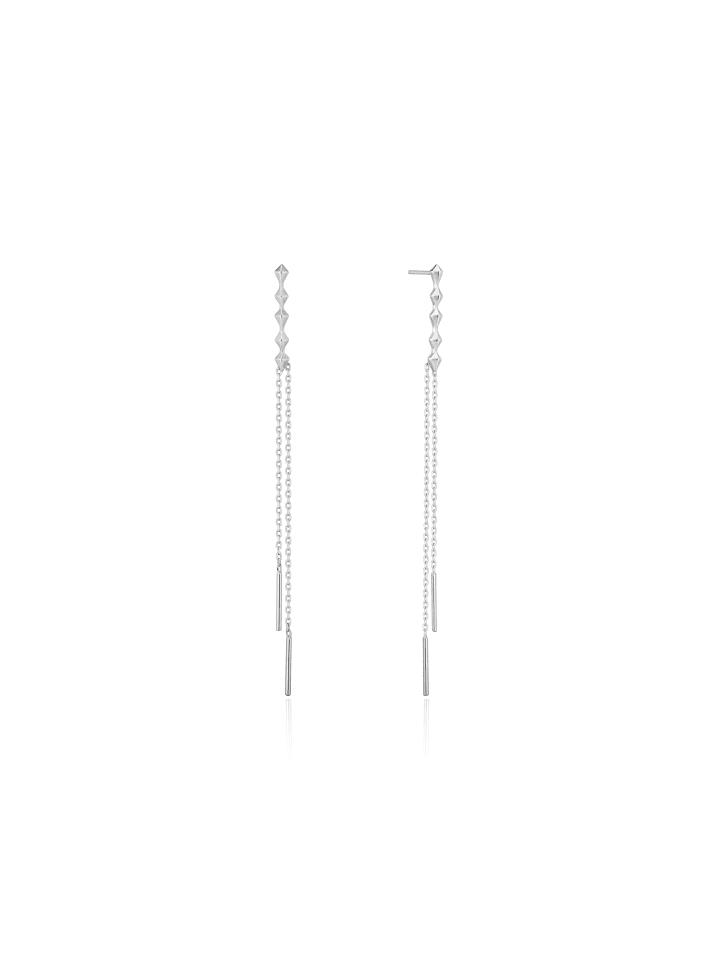 Ania Haie Spike Double Drop E025-01H in silber