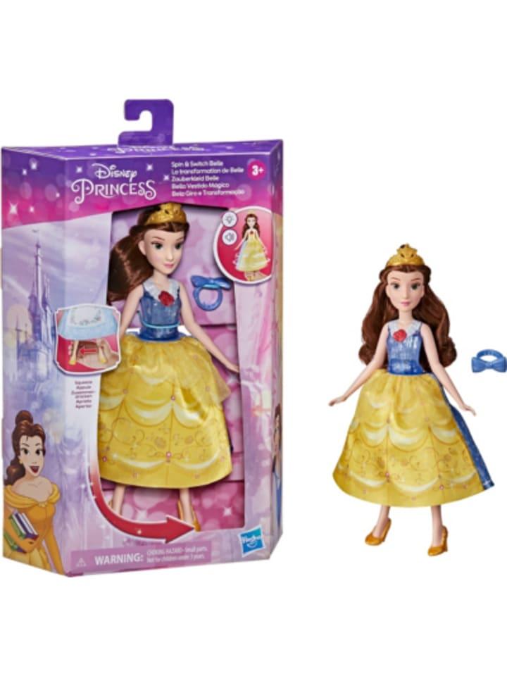 Hasbro Disney Prinzessin Zauberkleid Belle, Modepuppe mit Wechselfunktion zum...