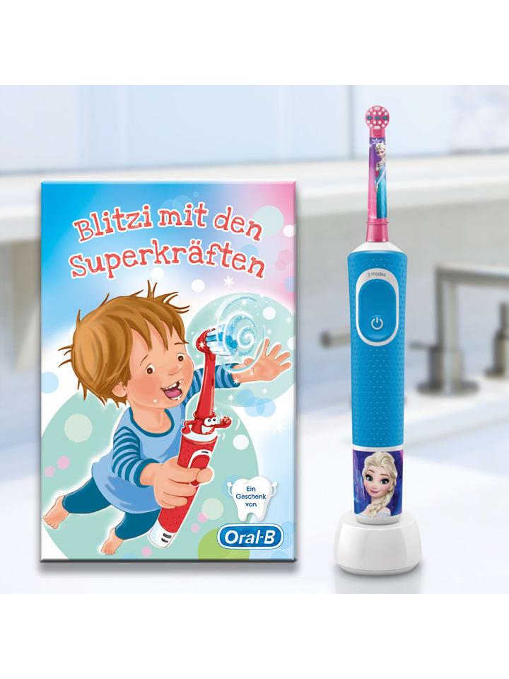 "Oral-B Elektrische Zahnbürste ""Vitality 100 Kids Frozen CLS"" + Kinderbuch Blitzi"