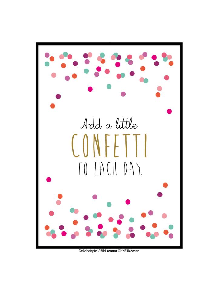 """SMART ART Kunstdrucke Kunstdruck / Poster """"Confetti"""" / A4 oder A3"""