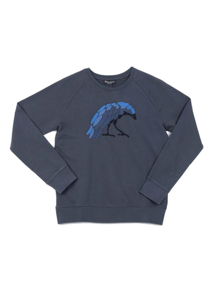 "OKKER-GOKKER NATURE  Sweatshirt ""Hugin"" in dunkelgrau"