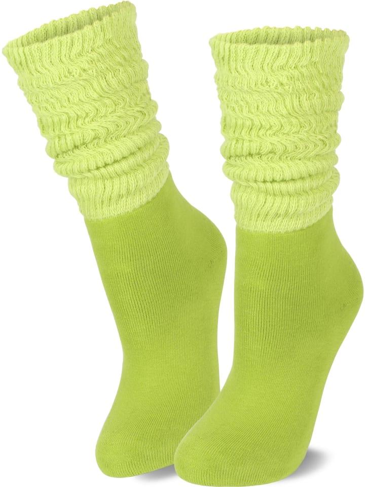 Normani 2 Paar Vollfrottee-Socken Casual Couch in Kiwi