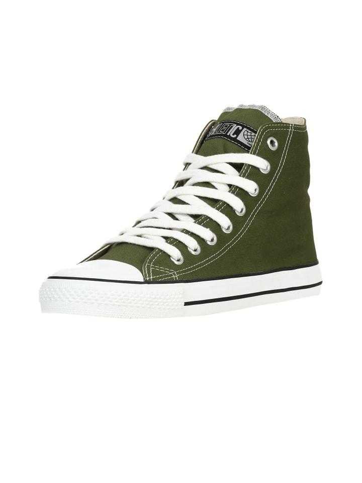 Ethletic Sneaker Hi Fair Trainer White Cap in camping green   just white