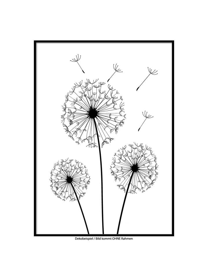 "SMART ART Kunstdrucke Kunstdruck / Poster ""Pusteblumen"" / A4 oder A3"