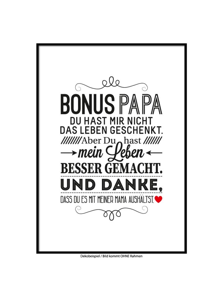 "SMART ART Kunstdrucke Kunstdruck / Poster ""Bonus Papa"" / A4 oder A3"