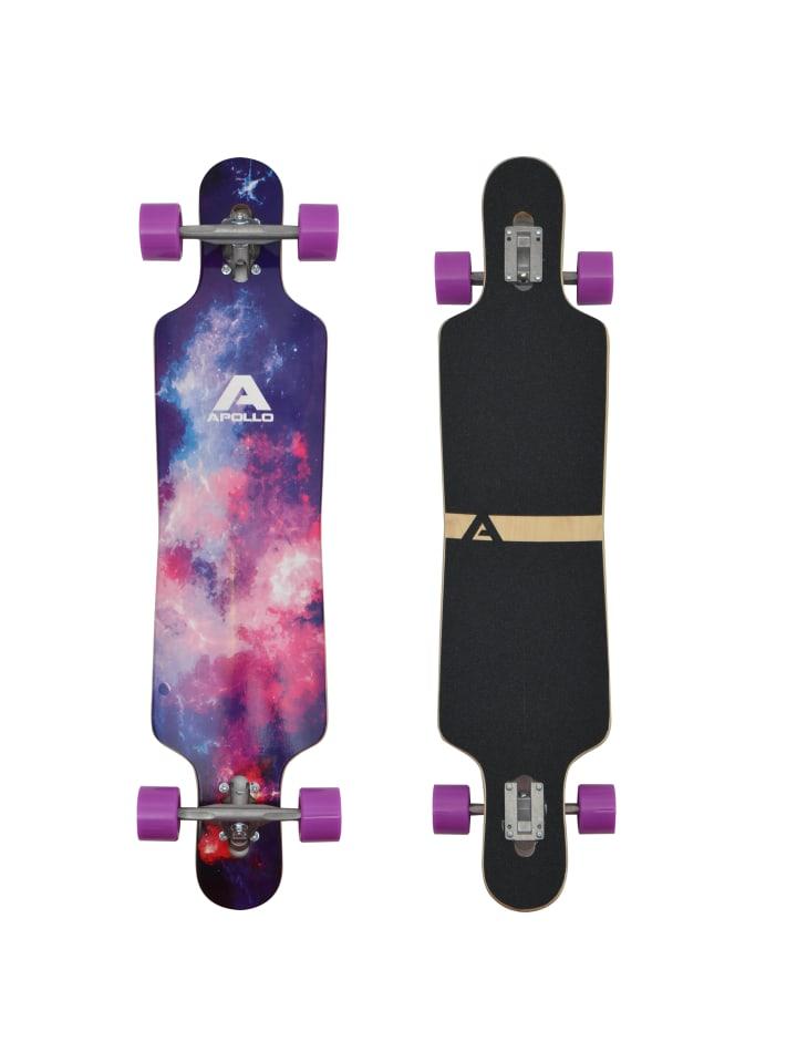 "Apollo Twin Tip DT Longboard "" Supernova "" in lila/pink"
