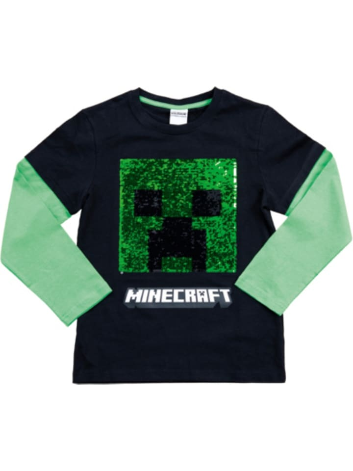 Minecraft Sweatshirt Creeper black/green 128cm