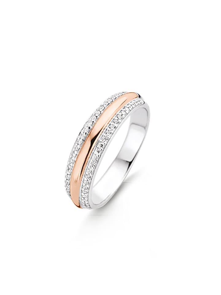 """Ti Sento Milano Ring """"Zirkonia bicolor rosè"""" in silber und gold"""