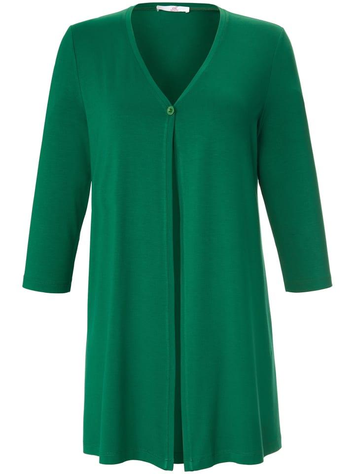 ANNA AURA Shirtjacke mit Knopf in grün