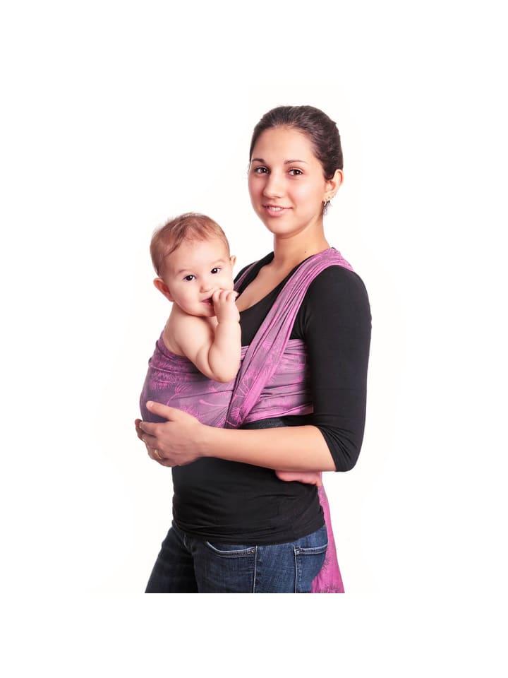 Hoppediz Babytragetuch gewebtes Tragetuch in Chicago pink
