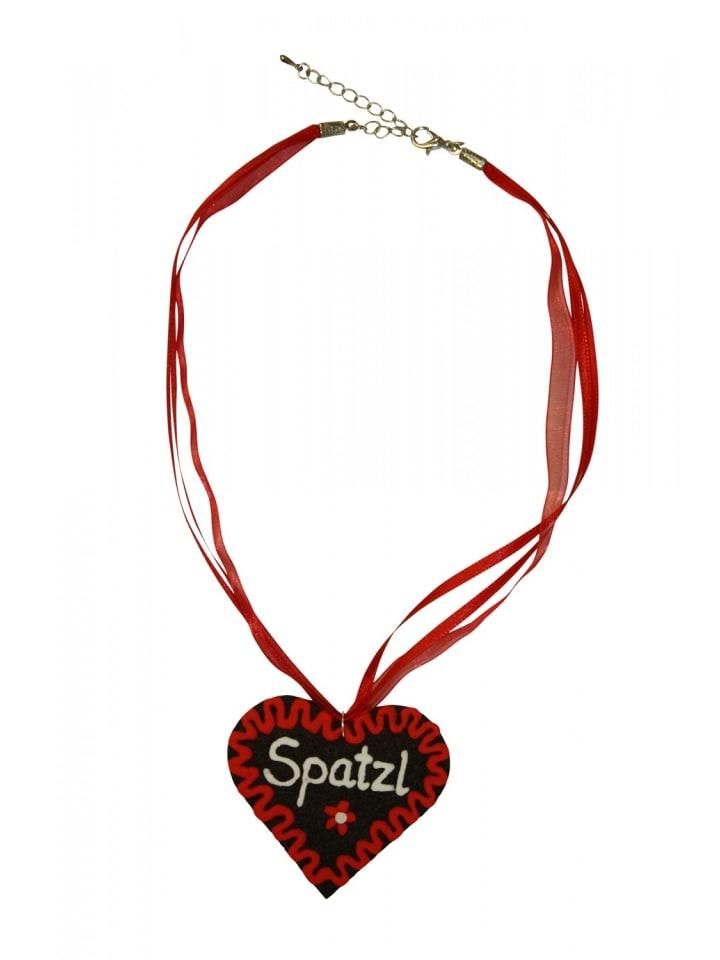 Edelnice Halskette Spatzl in rot