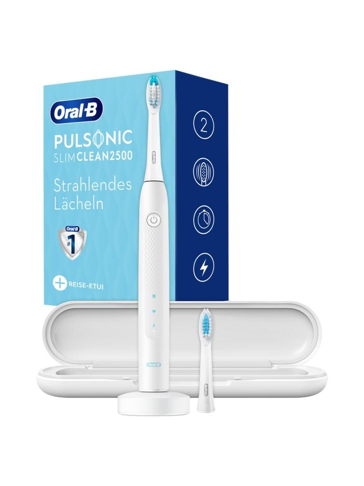 """Oral-B Elektrische Schallzahnbürste """"Pulsonic Slim Clean 2500"""" in Weiß mit Reiseetui"""