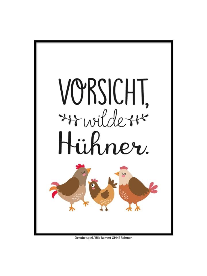 "SMART ART Kunstdrucke Kunstdruck / Poster ""Wilde Hühner"" / A4 oder A3"