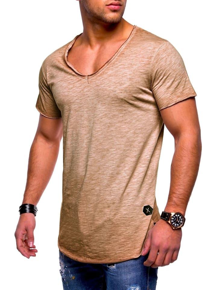 Behype T-Shirt NUKE in beige (wash)