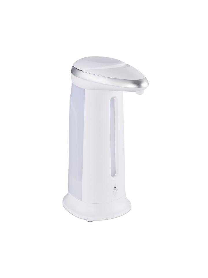 Relaxdays Seifenspender automatisch in Weiß - 400 ml