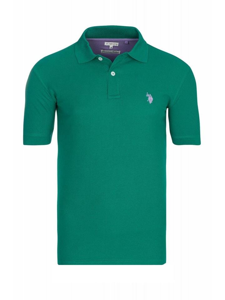 U.S. Polo Assn. Basic Poloshirt in Grün